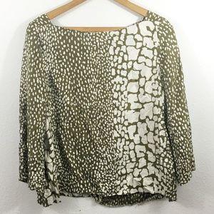 J. CREW Women's Printed Long Sleeve Shirt